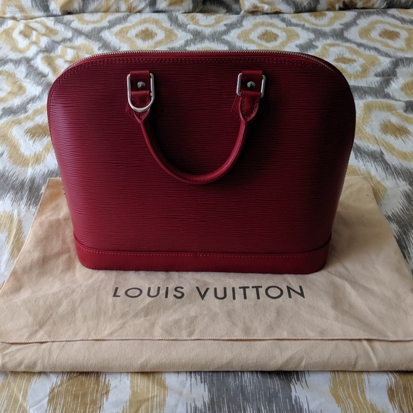 Louis Vuitton Handbags - 2010 Louis Vuitton Alma Epi Rouge 2 Bag